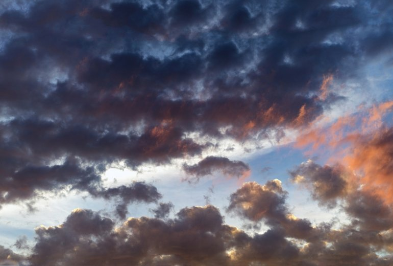 Sky in Pine Brook, New Jersey.